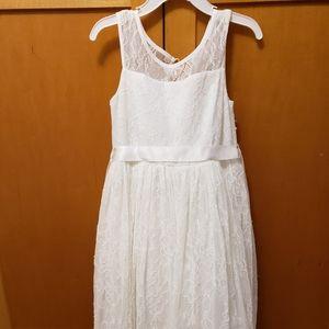 5T lace flower girl dress